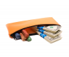 Orange Zipper Bank Bag 5.5 X 10.5 | CUR-010