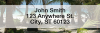 Beachfront Views Narrow Address Labels | LREVC-26