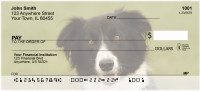 Bouncing Border Collie Personal Checks | DOG-68