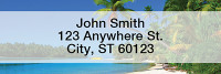 Island Paradise Rectangle Address Labels | LRSCE-02