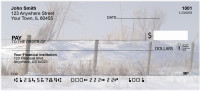 Barbed Wire Fence Posts Personal Checks | SCE-35