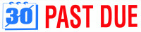 """Past Due"" Message Stamp 