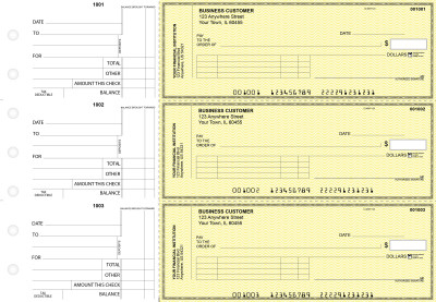 Yellow Safety Standard Invoice Business Checks | BU3-YEL01-SNV