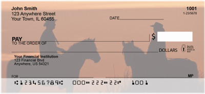 Horses at Dusk Personal Checks | CCS-60