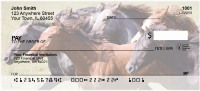 Running Horses Personal Checks | CCS-68