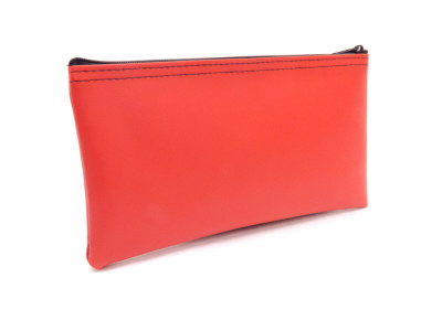 Red Zipper Bank Bag, 5.5