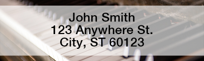 Pianos Rectangle Address Labels | LRMUS-05