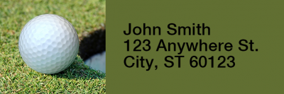 Golf Narrow Address Labels | LRRSPO-03