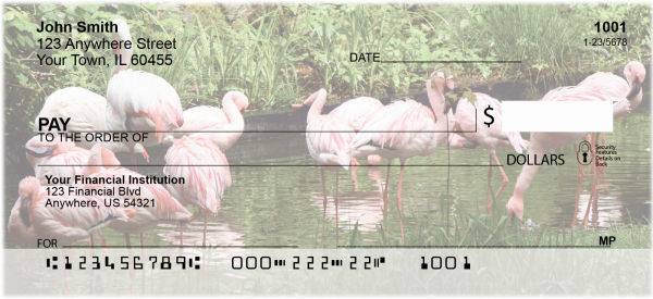 Flamingos Personal Checks | ANI-24