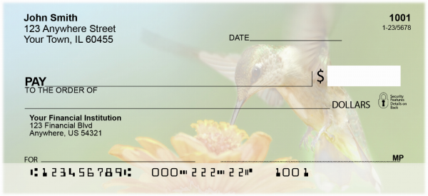 Hummingbirds Personal Checks | ANI-25