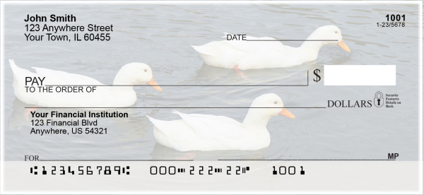 Ducks Personal Checks | ANI-30