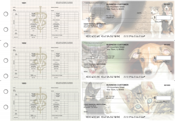 Veterinarian Multi-Purpose Corner Voucher Business Checks | BU3-7CDS14-MPV