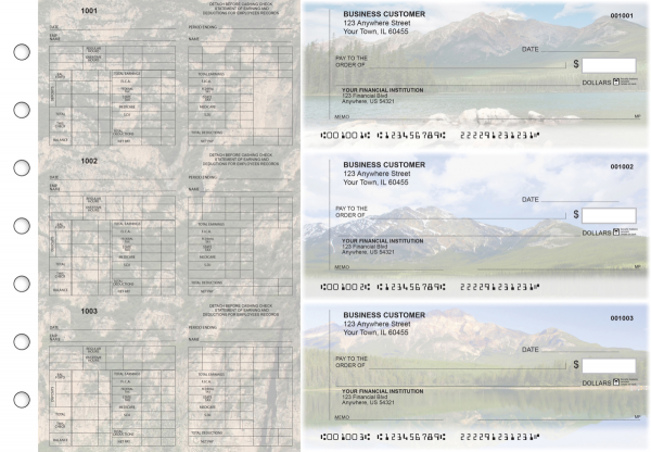Scenic Mountains Multi-Purpose Counter Signature Business Checks | BU3-7CDS29-MPC