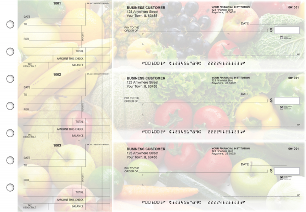 Fresh Produce Standard Mailer Business Checks | BU3-CDS09-SML
