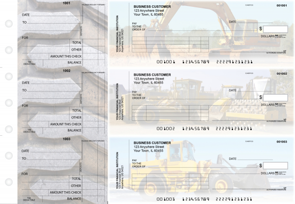 Construction Standard Invoice Business Checks | BU3-CDS10-SNV