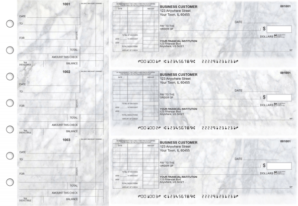 Marble Standard Itemized Invoice Business Checks | BU3-CDS20-SII