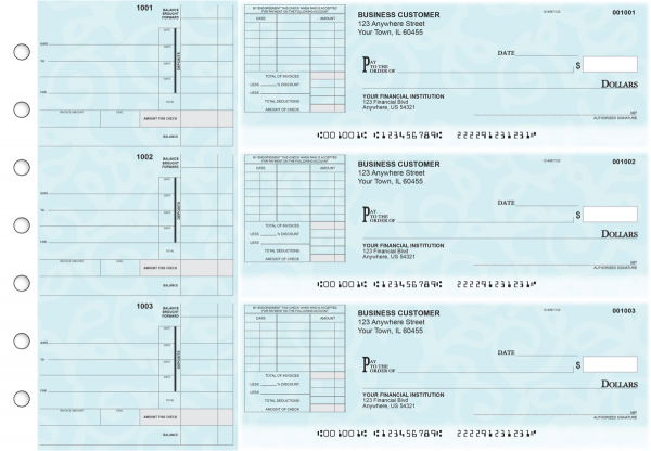 Swirls Itemized Invoice Business Checks | BU3-CDS24-TNV