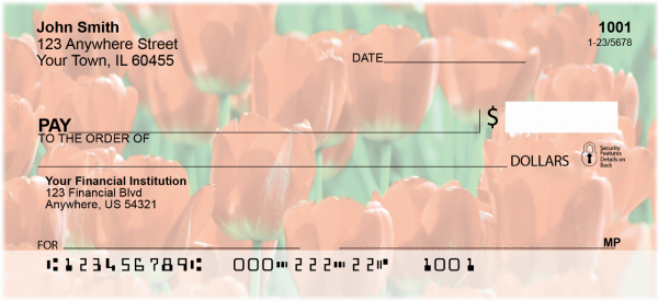 Lovely Tulips Personal Checks | CCS-23