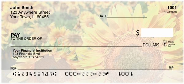 Field of Flowers Personal Checks | CCS-53