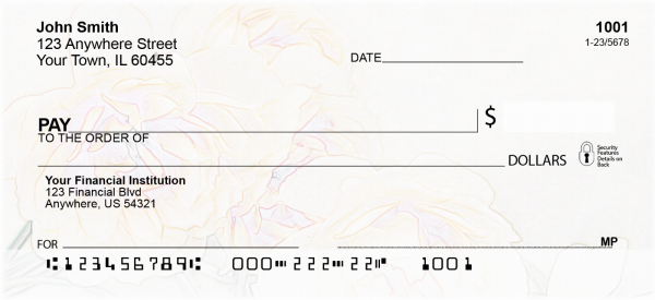 Rose Sketches Personal Checks | CCS-67