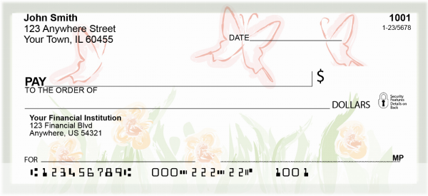 Watercolor Butterflies Personal Checks | CCS-72