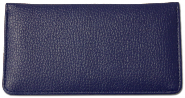 Royal Blue Textured Leather Checkbook Cover | CLP-BLU04