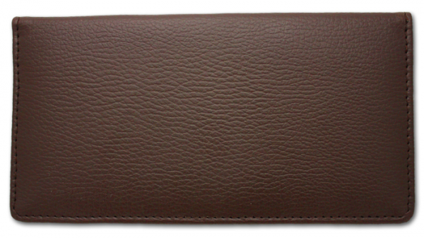 Brown Side Tear Leather Checkbook Cover | CLP-BST02