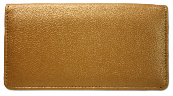 Gold Leather Checkbook Cover | CLP-GLD01