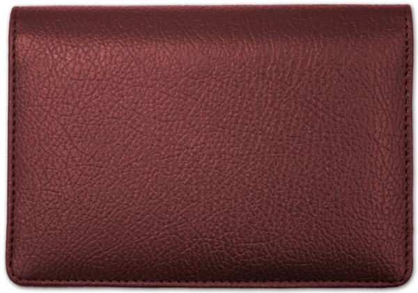 Burgundy Leather Top Stub Checkbook Cover | CLW-BUR01