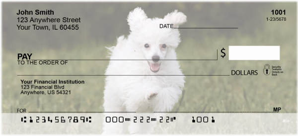 Mini Poodle Personal Checks | DOG-104