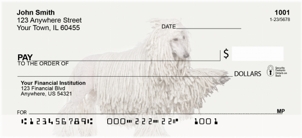 Standard Poodle Personal Checks | DOG-111