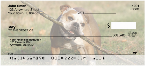 Fun with Bulldogs Personal Checks | DOG-23