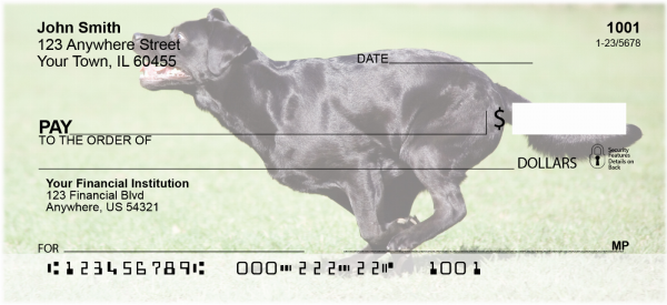 Brilliant Black Labs Personal Checks | DOG-52