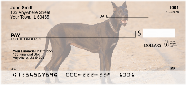 Gigantic Great Danes Personal Checks | DOG-63