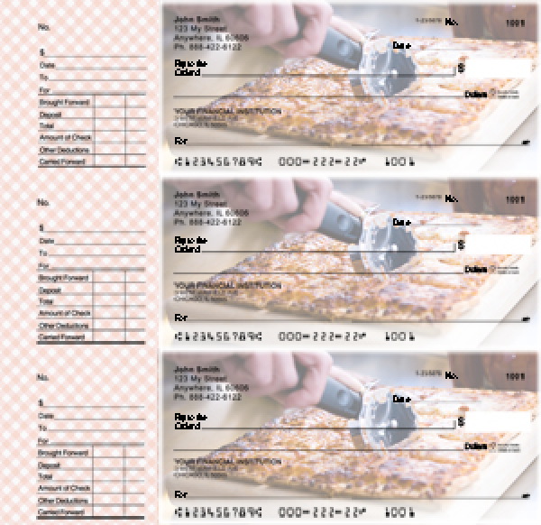 Pizza Designer Deskset Checks | DS-CDS06