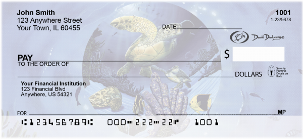Turtles Personal Checks by David Dunleavy | DUN-01