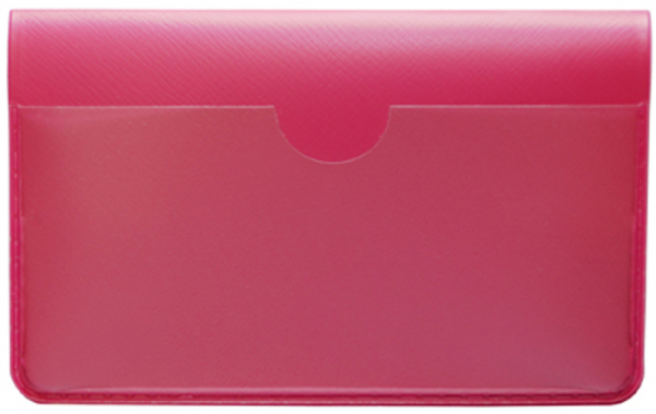 Hot Pink Vinyl Debit Card Cover | DVP-PIN01