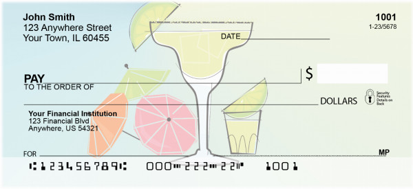 Classic Cocktails Personal Checks | FOD-17