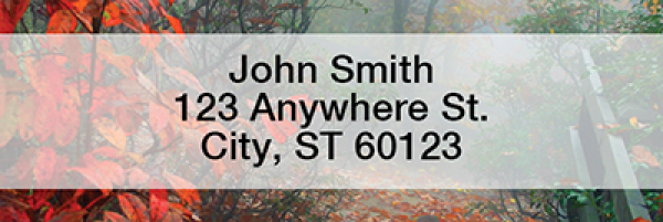 Dreary Fall Days Rectangle Address Labels | LRFUN-71