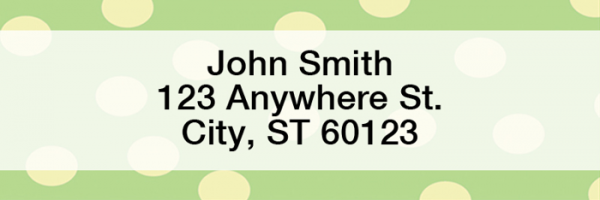 Dots Rectangle Address Labels | LRGEO-01