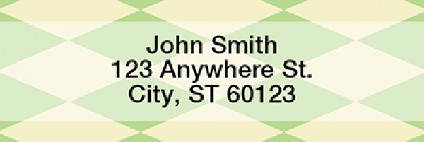 Argyle Rectangle Address Labels | LRGEO-03