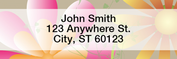 Garden Fresh Rectangle Address Labels | LRGEO-20