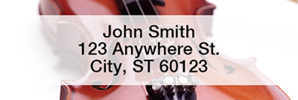 Instruments Narrow Address Labels | LRMUS-01