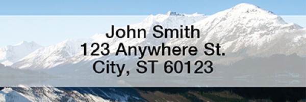 Scenic Reflection Narrow Address Labels | LRNAT-03
