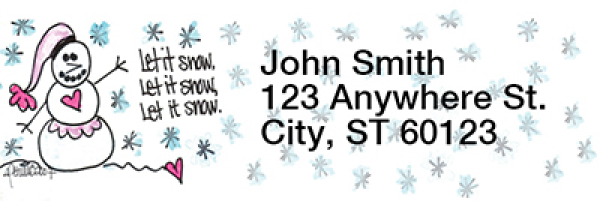Let It Snow, Let It Snow, Let It Snow! Address Labels by Amy S. Petrik | LRRAMY-07