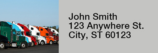 Semi Truck Narrow Address Labels  | LRRPRO-47
