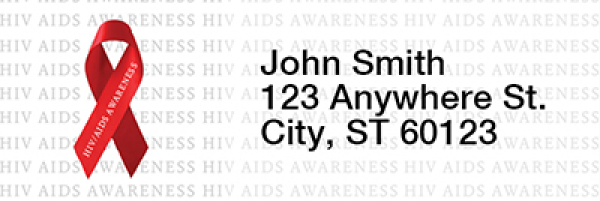 HIV/Aids Awareness Ribbon Rectangle Address Labels | LRRRIB-17