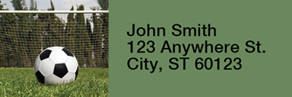 Soccer Narrow Address Labels | LRRSPO-13
