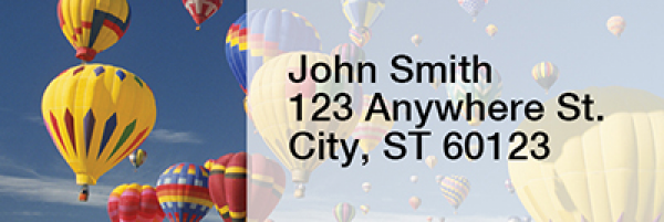 Hot Air Balloons Rectangle Address Labels | LRRTRA-42