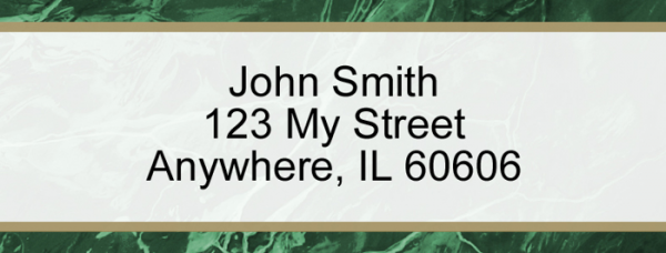 Green Marble Narrow Address Labels | LRVAL-018